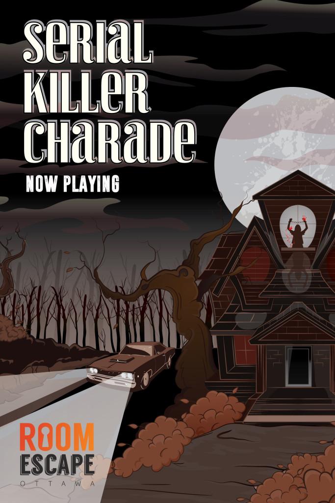 Serial Killer Charade Illustration Sarouen